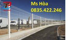 Hàng rào lưới thép công trình, hàng rào bảo vệ, hàng rào lưới mạ kẽm