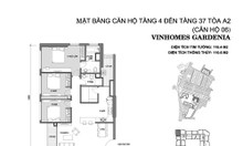Căn hộ tầng trung 3 ngủ, 110m2 Vinhomes Gardenia Mỹ Đình, giá: 4.4 tỷ