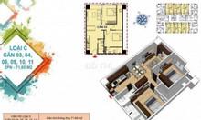 Bán căn hộ thương mại 2pn + 2wc dt = 72m2 view biển NH hỗ trợ cho vay