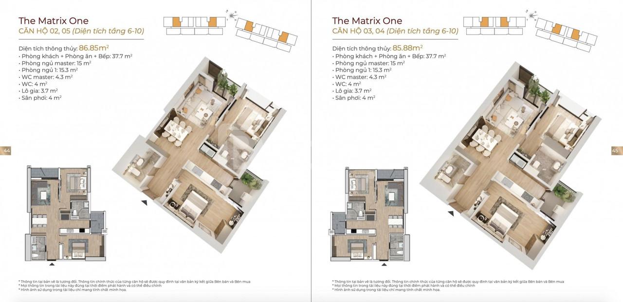 The Matrix One ck 9,5% hỗ trợ 0% lãi suất 36T view cv hồ điều hòa 14ha