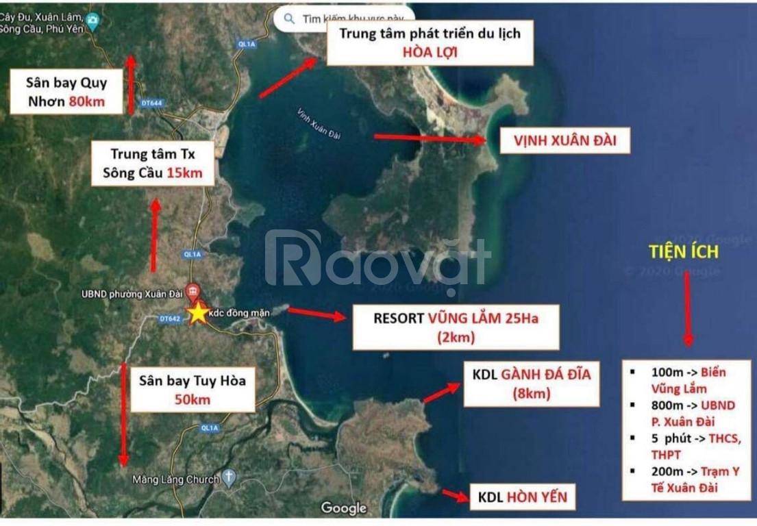 Bán 100 m2 đất biển sổ đỏ đối diện Resorts 5 sao Vũng Lắm, Phú Yên