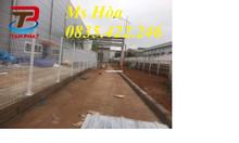 Sản xuất hàng rào lưới thép hàn chập D4 D5 D6