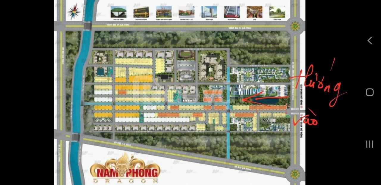 Đất Cần Đước Long An,  dự án Nam Phong Dragon, 93m2,  đã có sổ