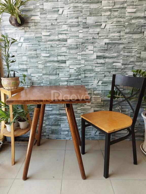 Bàn ghế cafe gỗ sắt cafe, bàn ghế gỗ quán ăn, bàn ghế quán nhậu