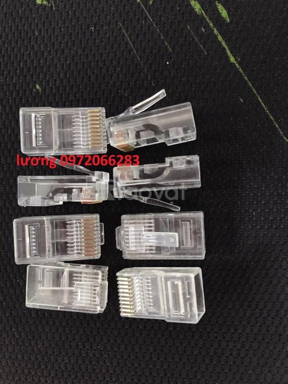 Đầu bấm mạng 10 pin rj50 thiết kế dạng chuẩn 10p