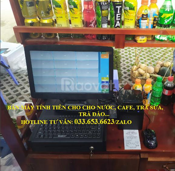 Lắp máy tính tiền cho quán trà sữa, cafe tại quận Tân Phú