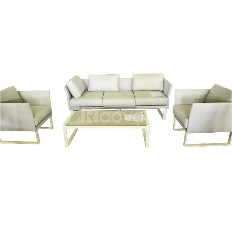 Bàn ghế sofa chân sắt phòng khách