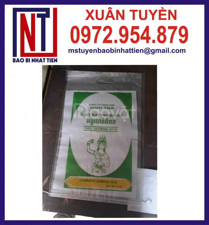 Bao pp đựng gạo 10kg, 25kg, 50kg xuất khẩu