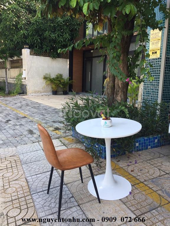 Bộ bàn ghế sắt sơn tĩnh điện màu trắng