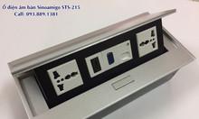 Ổ cắm âm bàn Sinoamigo STS-212S màu bạc lắp 5 modules
