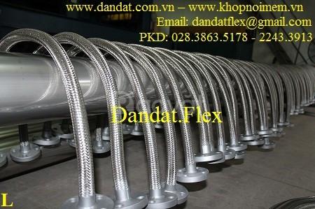 Khớp nối mềm chống rung mặt bích, ống mềm chống rung inox 304K