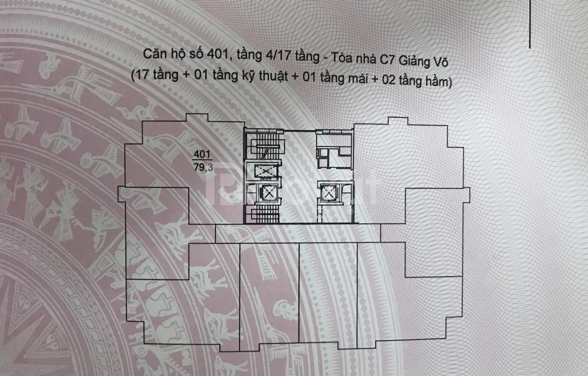 Bán căn góc 80m2 tầng 4 chung cư Giảng Võ, Ba Đình, Hà Nội