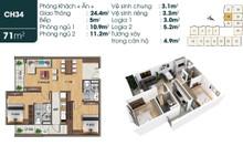 Bán căn hộ 71m2 tại TSG Lotus Sài Đồng Long Biên rẻ bất ngờ 2 tỷ
