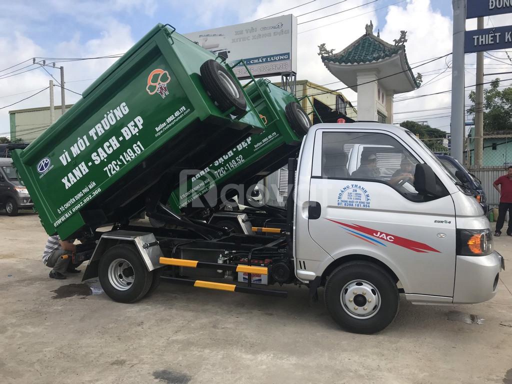 Xe ben nhỏ chở rác trong thành phố 1t4 hiệu Jac X150