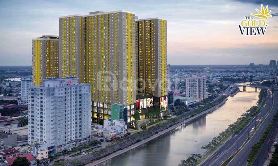 Cần bán gấp căn hộ The Gold View q4, 3,2tỷ bao sổ, 58m2