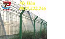 Hàng rào mạ kẽm D4 a50x150 sơn tĩnh điện, chấn sóng
