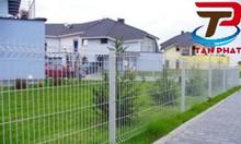 Lưới hàng rào mạ kẽm, hàng rào bẻ 2 đầu, hàng rào thép đôi