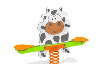 Bập bênh đôi chú bò sữa - Single 5034