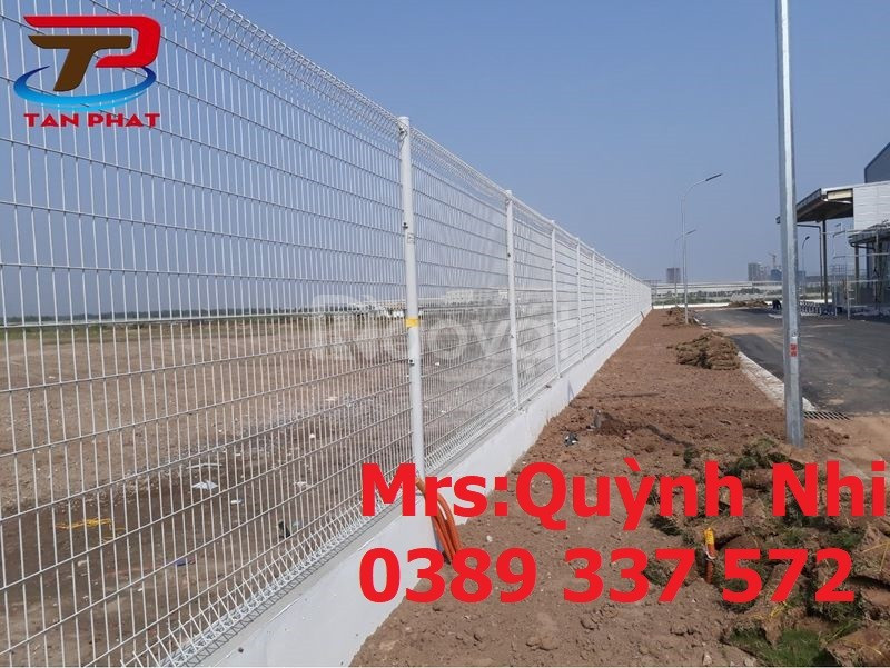 Hàng rào mạ kẽm chấn sóng, uốn sóng Phi 5 a(50x150)