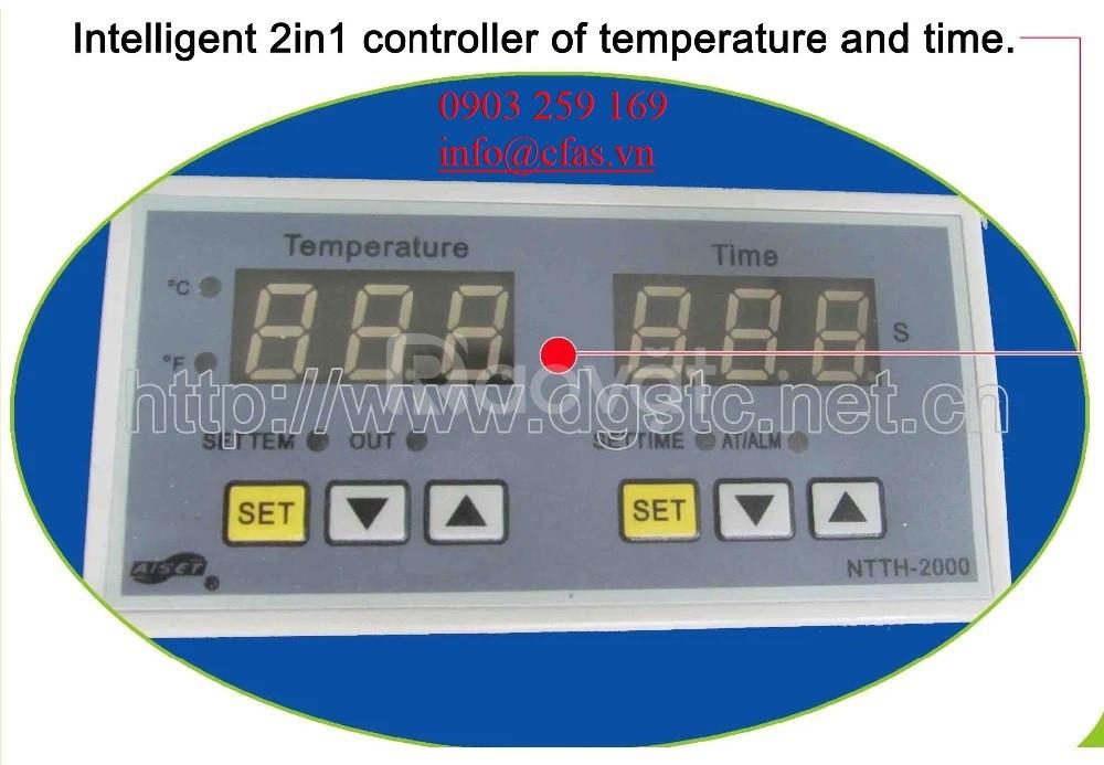Máy ép nhiệt phẳng thủy lực hơi 2 mâm khổ 40x60