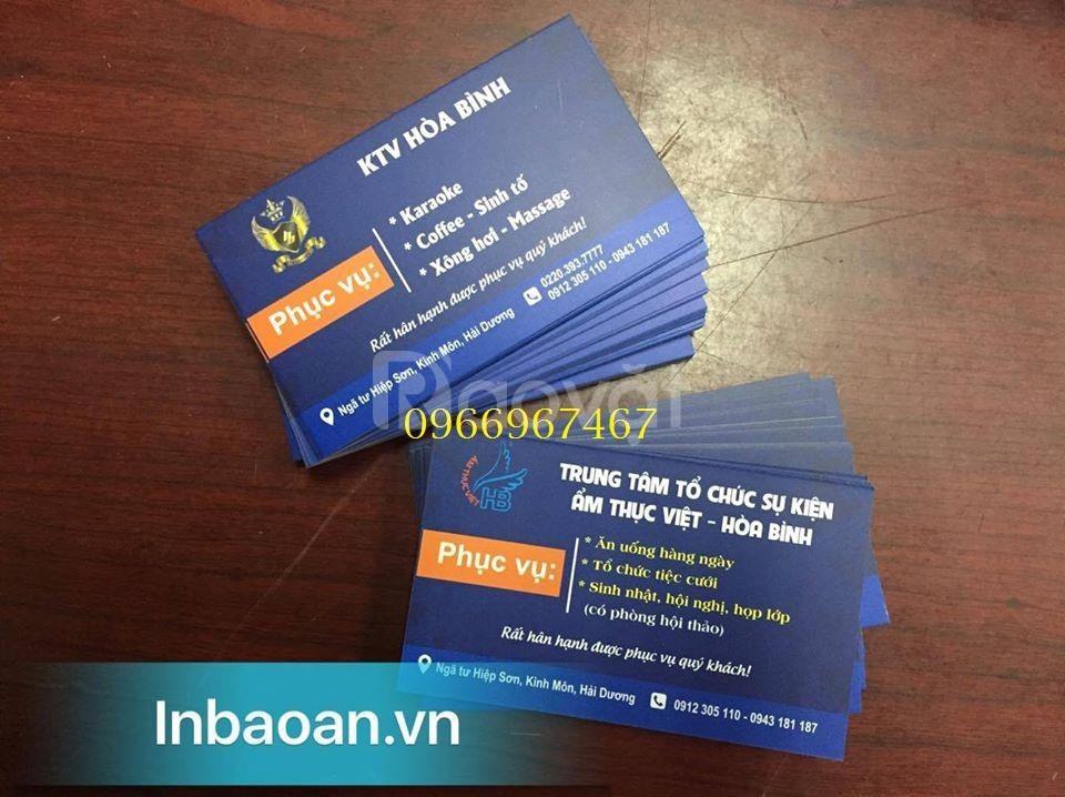 In card cá nhân, in card công ty, địa chỉ in card visit