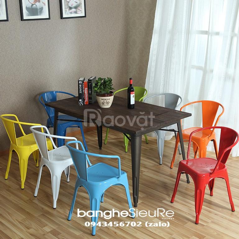 Ghế cafe sắt có tay vịn GST20 ghế cafe, ghế sắt sơn tĩnh điện