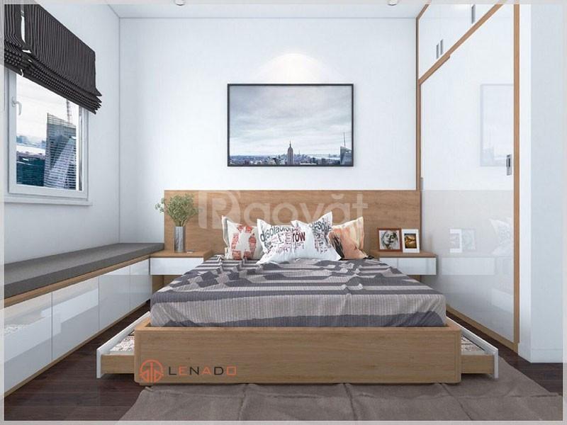 Mẫu giường ngủ đơn giản có ngăn kéo để đồ tại Thanh Hóa