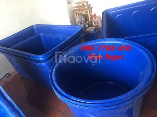 Bồn nhựa tròn các loại chứa nước làm hồ bơi, nuôi cá