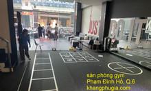 Lắp đặt sàn cao su tập gym giá tốt