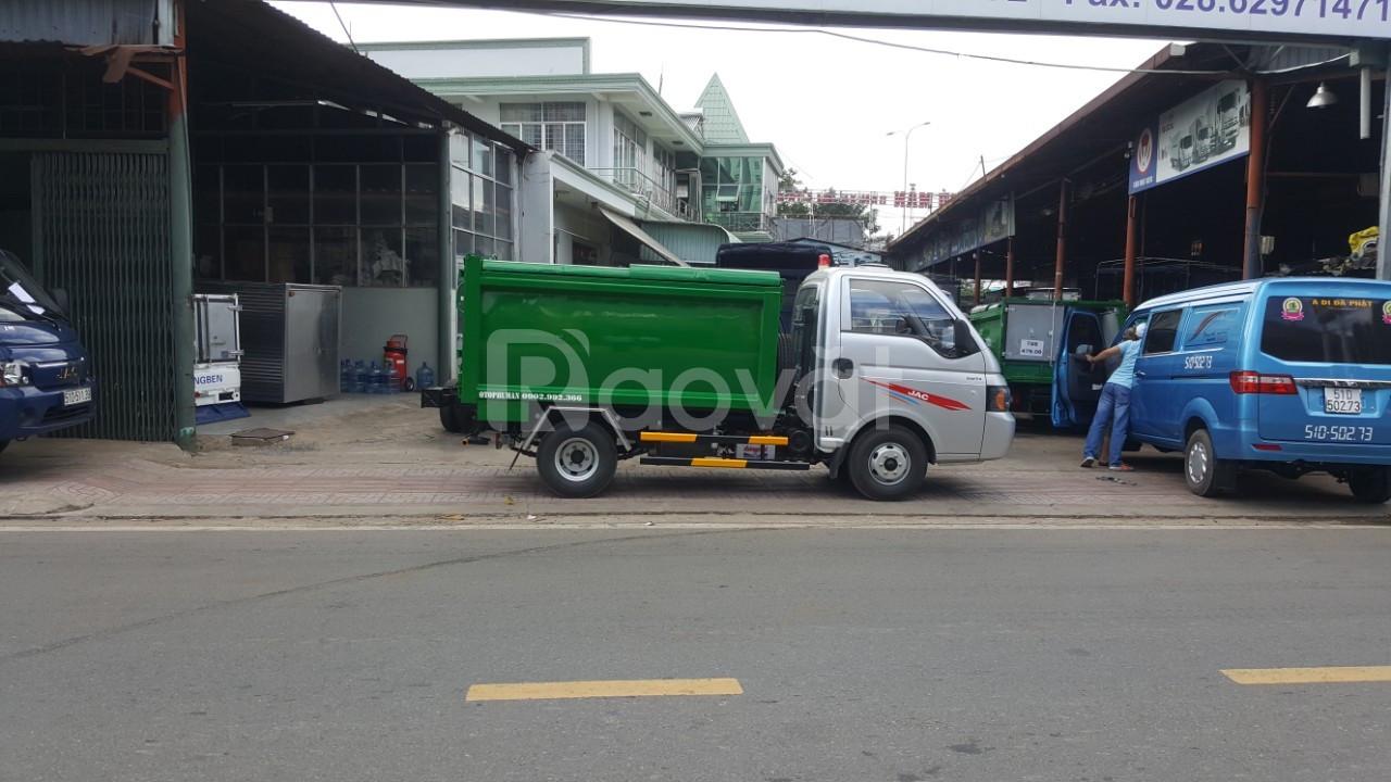 Xe ben Jac chở rác thùng 3.5 khối full Inox giá nhà máy