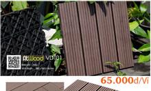 Vỉ gỗ nhựa lót sàn nhà tắm và ngoài trời Atwood VDT01-Nâu