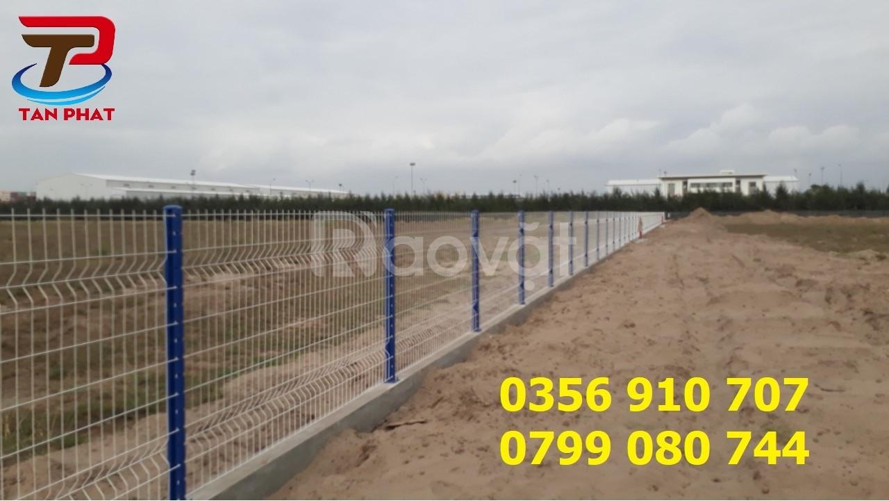 Hàng rào lưới thép dạng khung, hàng rào chắn sóng, hàng rào kho