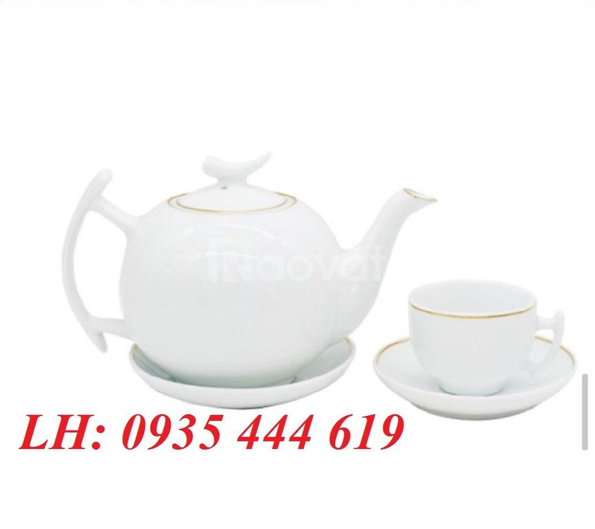 Bộ ấm trà in logo tặng quà khách hàng tại Quảng Nam