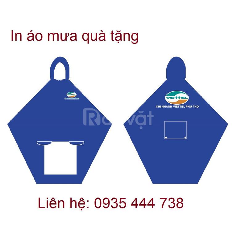 Xưởng áo mưa tốt giá rẻ Quảng Nam, in logo áo mưa chất lượng