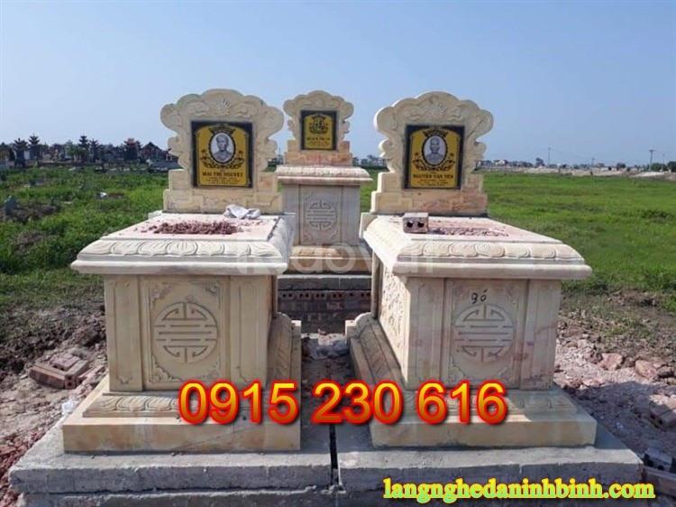 Nhận thiết kế lắp đặt mộ đá tại Thái Bình