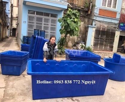 Thùng chữ nhật 1100 lít - thùng nhựa vuông 1000L - 750 lít