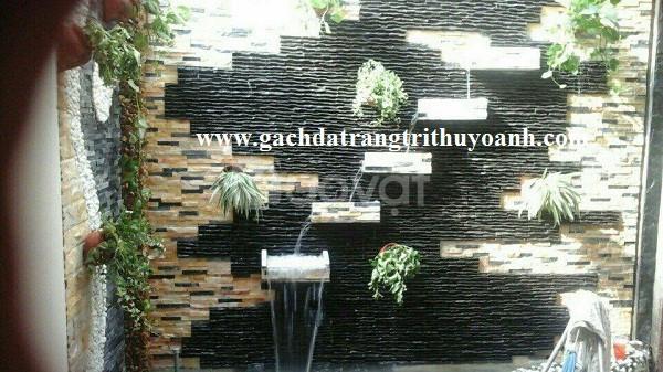 Đá suối quy cách ốp lát trang trí tường