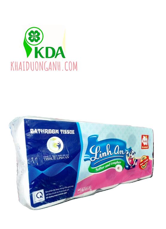 Giấy vệ sinh cuộn nhỏ cao cấp Linh An, giấy vệ sinh giá sỉ An Giang