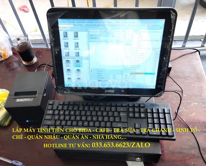 Máy tính tiền Pos cho quán bida, cafe tại TpHCM