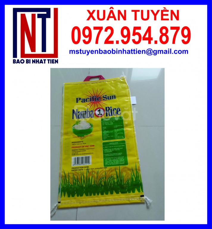 Bao đựng gạo xuất khẩu, bao PP dệt đựng gạo