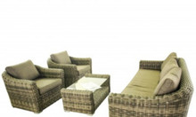 Sofa nhựa mây màu nâu trầm