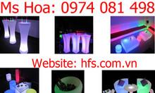 Bàn ghế nhựa led phát sáng giá rẻ, bàn bar nhiều màu