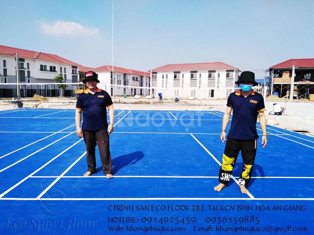 Lắp đặt sàn thể thao đa năng thi đấu chuyên nghiệp