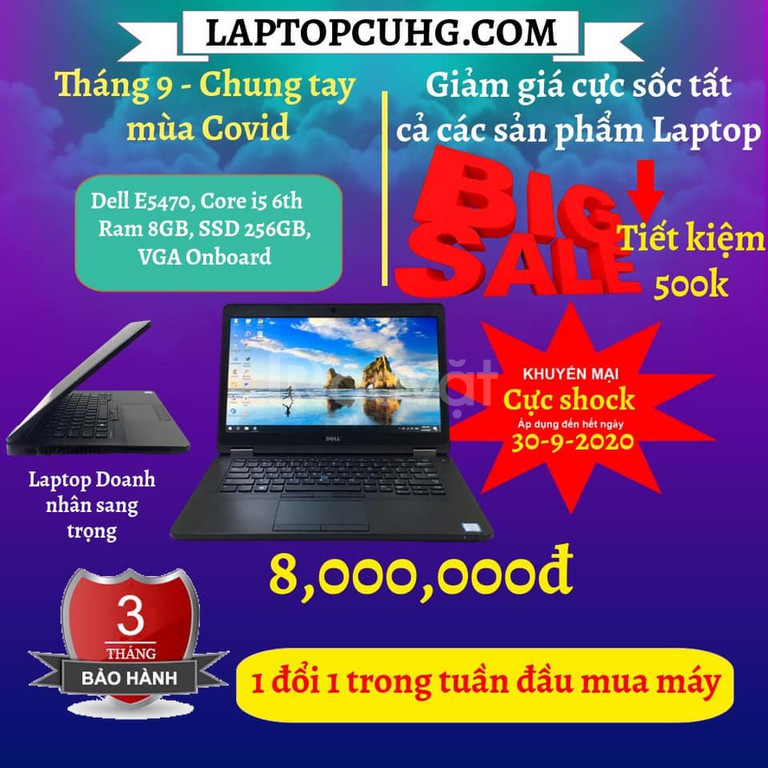 Dell Latitude E5470 i5 6300U/8Gb Ram/256Gb ssd