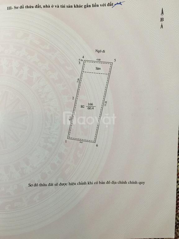 Bán nhà ngõ 67 Lê Thanh Nghị, HBT, Hà Nội, DT 61m2x3T mặt tiền rộng giá 5 tỷ