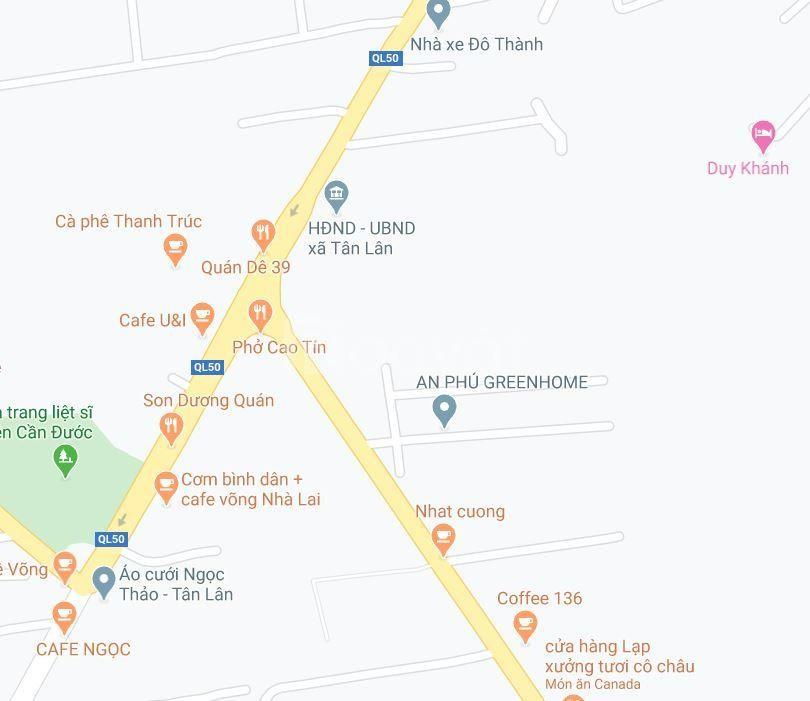 Chính chủ bán đất mặt tiền QL50, xã Tân Lân, Cần Đước