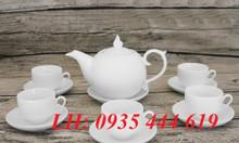 In logo lên ấm trà quà tặng khách hàng ở Quảng Nam