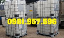 Bồn đựng hóa chất, bồn vuông loại 1000L, bồn trắng 1000L
