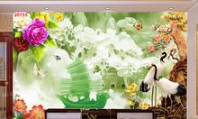 Gạch 3d, tranh ốp tường trang trí phòng khách đẹp