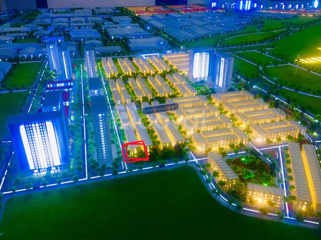Bán 100m2 căn góc Shophouse Centa Diamond rẻ hơn thị trường 300tr
